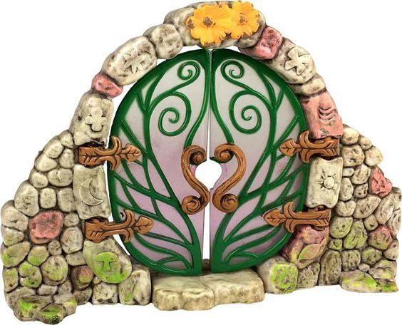 Secret Garden Fairy Door is part of Secret garden Kids - The secret garden fairy door was designed with children in mind, made of durable plastic, and suitable for kids age 6 and over   The hinged doors open and close for hours of interactive play