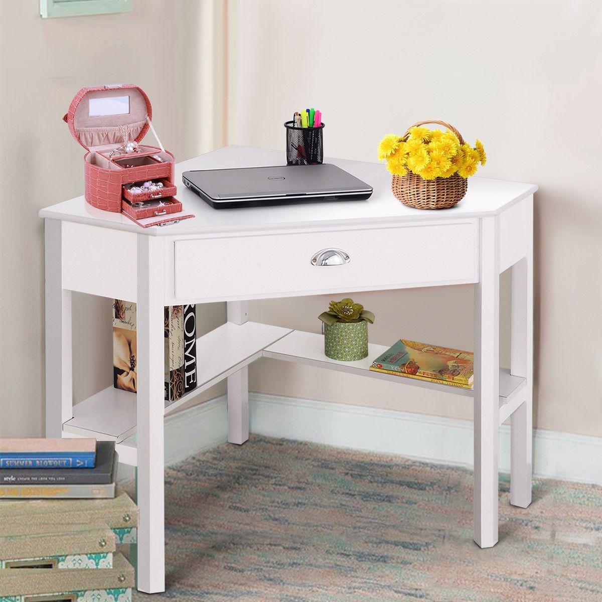 Buy Costway Corner Computer Desk Laptop Writing Table Wood