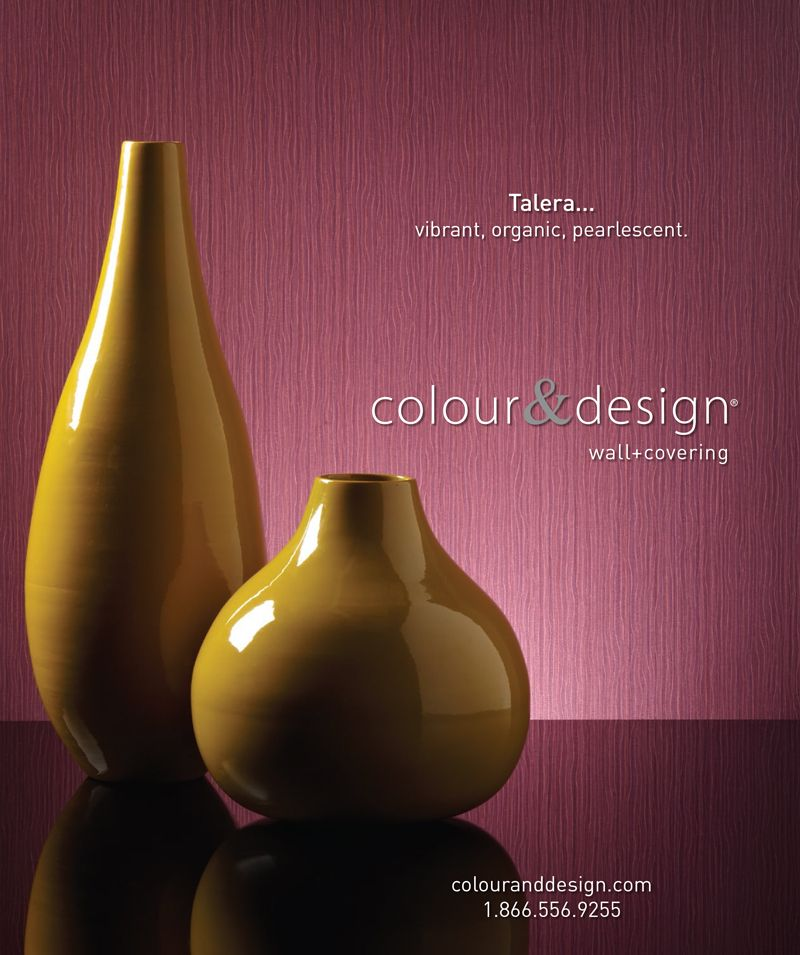 Creative Design And Photography For Colour Designs TaleraTM Wall Covering Advertisement In The July Interior MagazineCreative