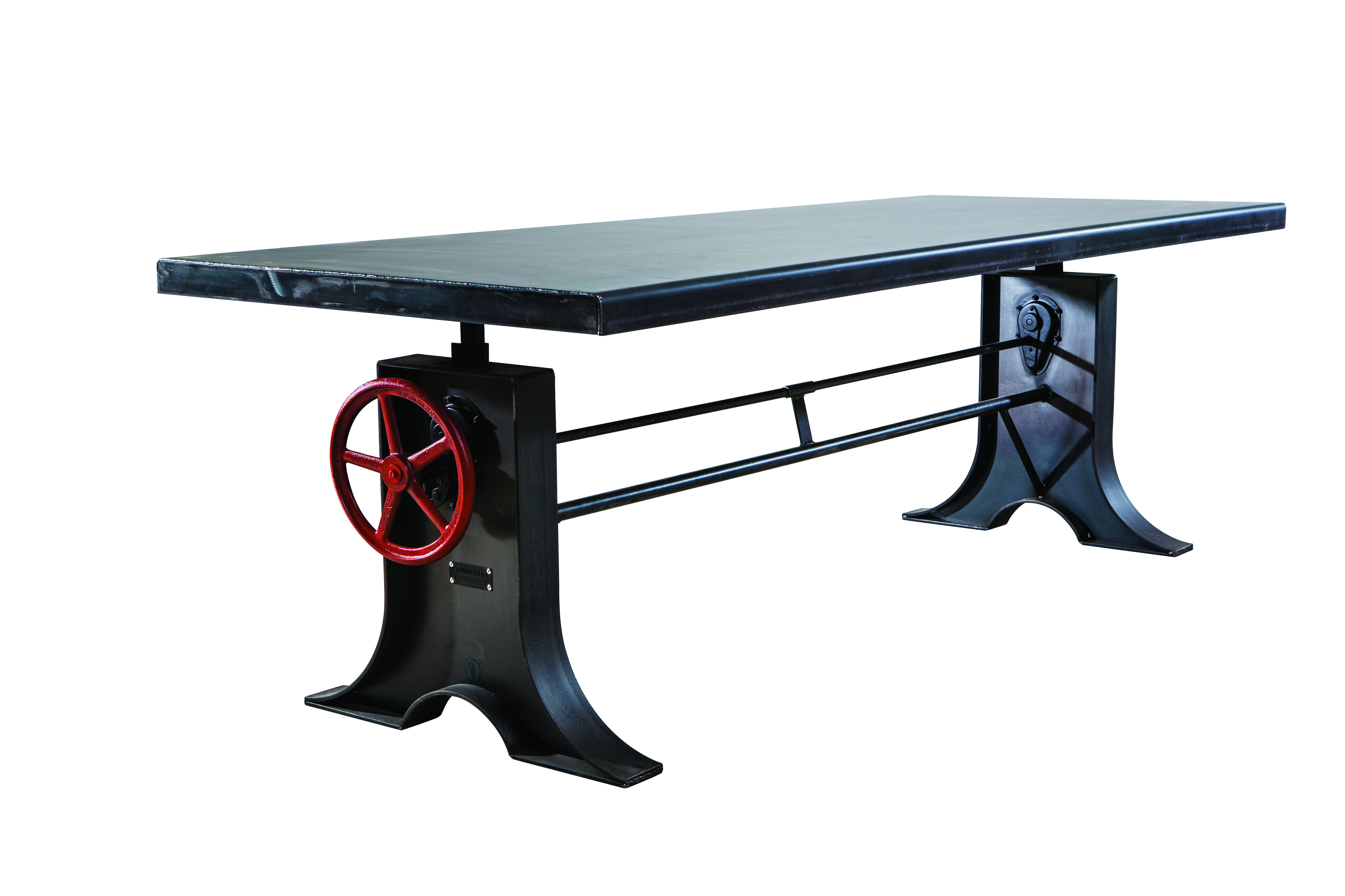An adjustable table the sl014 can vary in height from