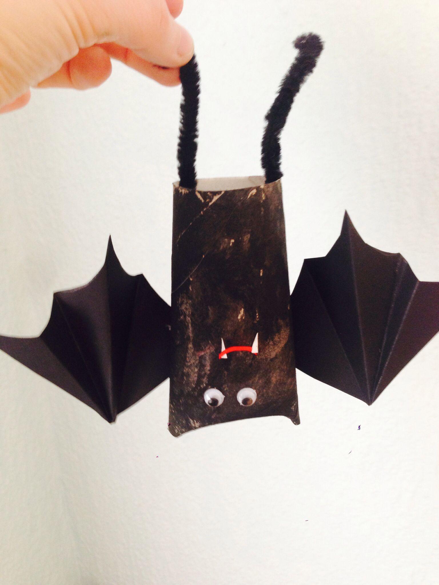 Hervorragend Fledermaus Klopapierrolle Halloween | halloween | Basteln mit KB41