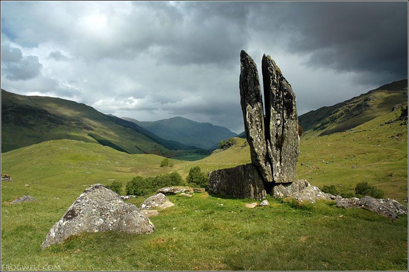 The Praying Hands of Mary, standing stones, Glen Lyon ...