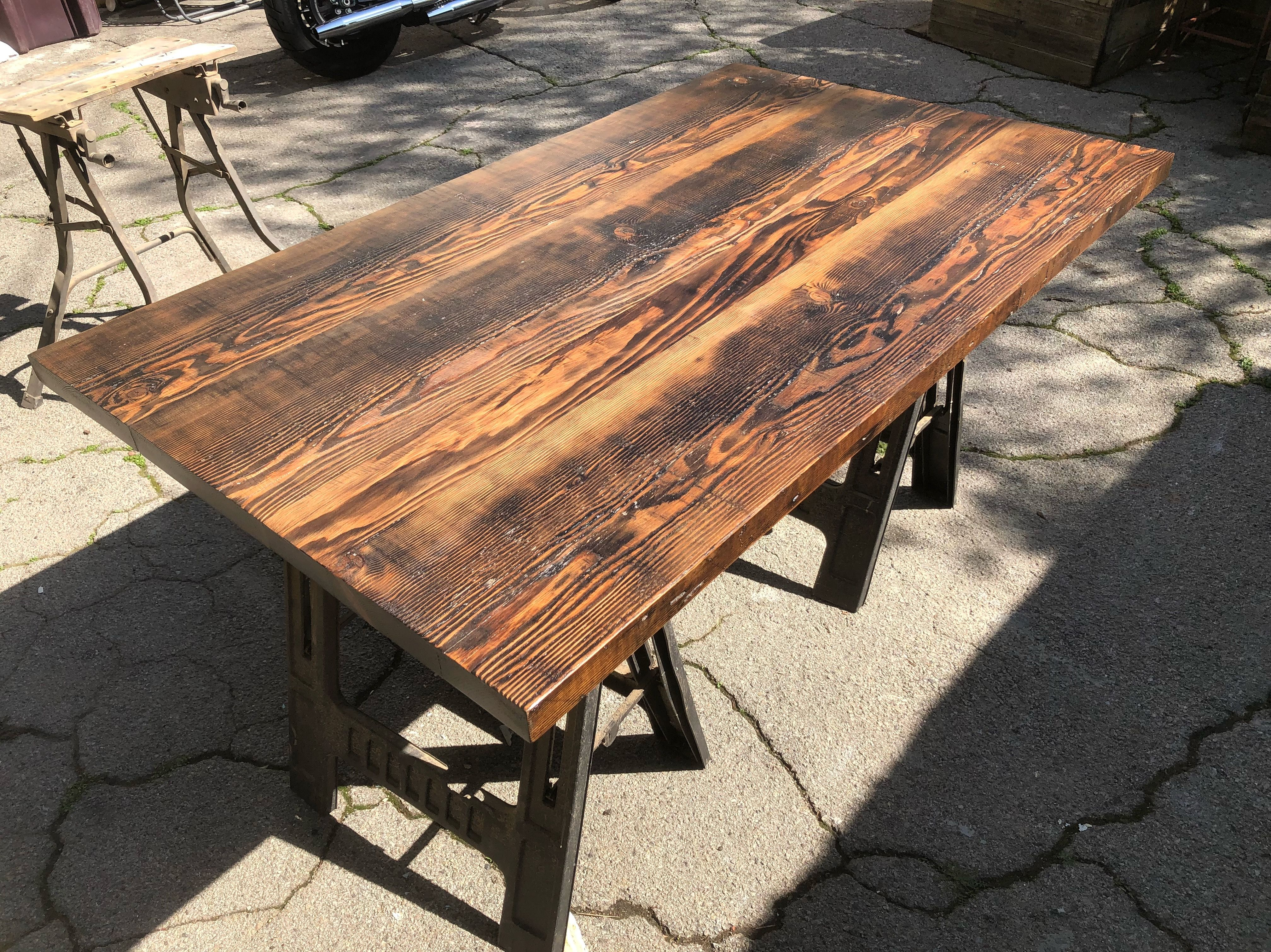 Done with stain and poly just curing the dark walnut stain turned