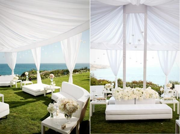 Pretty Wedding White Furniure Lounge Sofas At An Outdoor