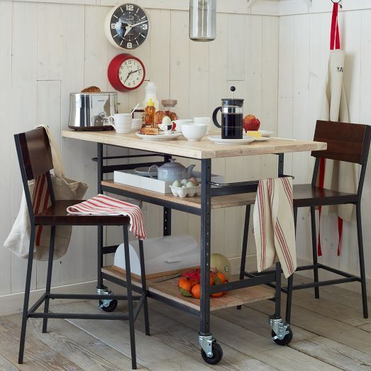 20 Small Eat In Kitchen Ideas Tips Dining Chairs: Rolling Island + Counter Table