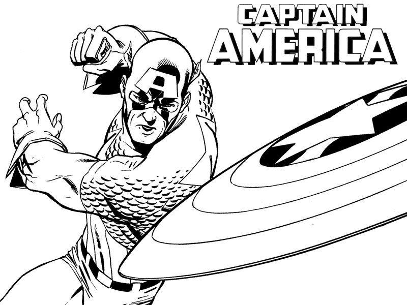 imagenes de capitan america en caricatura para colorear - Buscar con ...