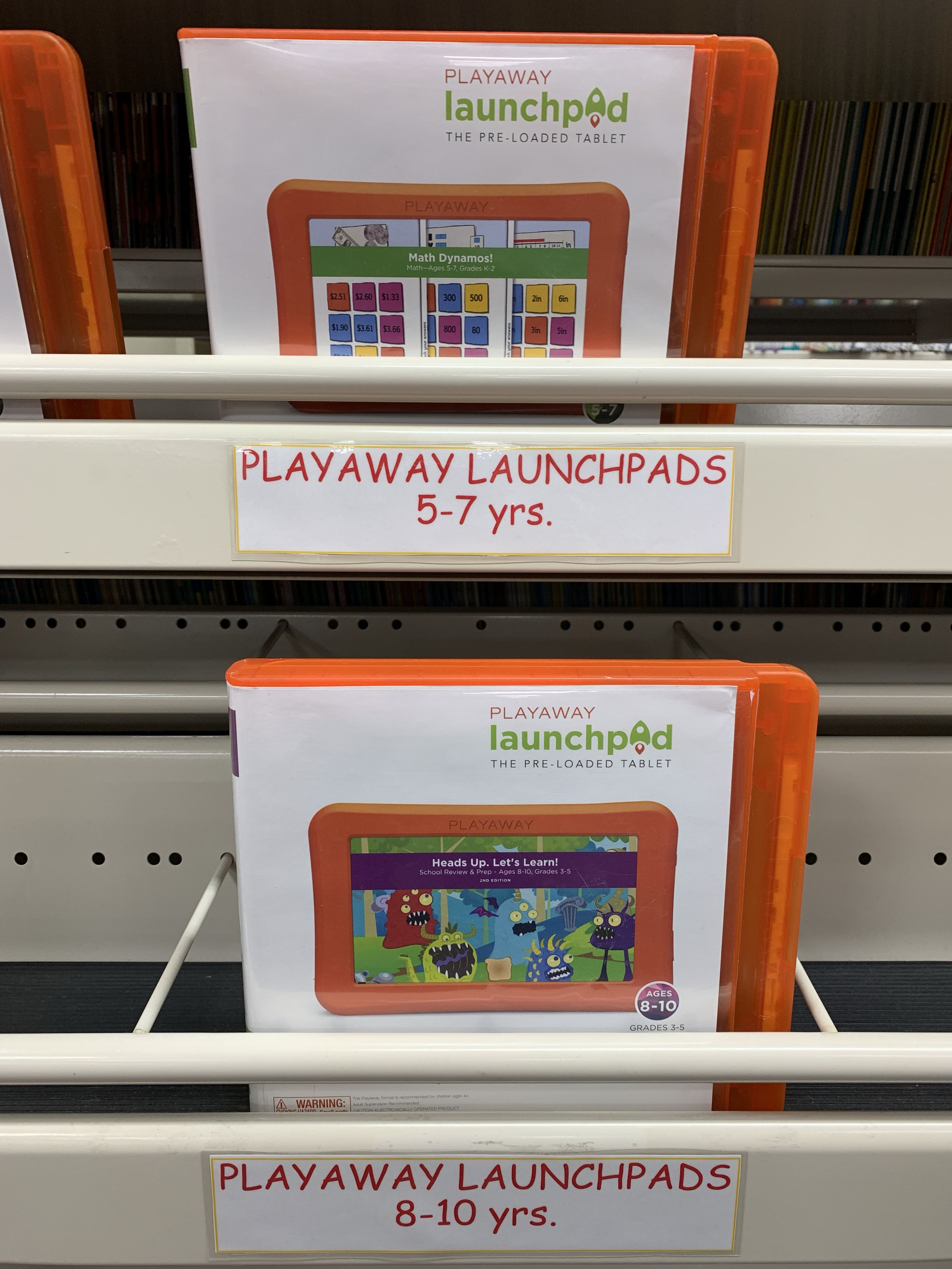 Parents, be sure to pick up a Playaway Launchpad! These