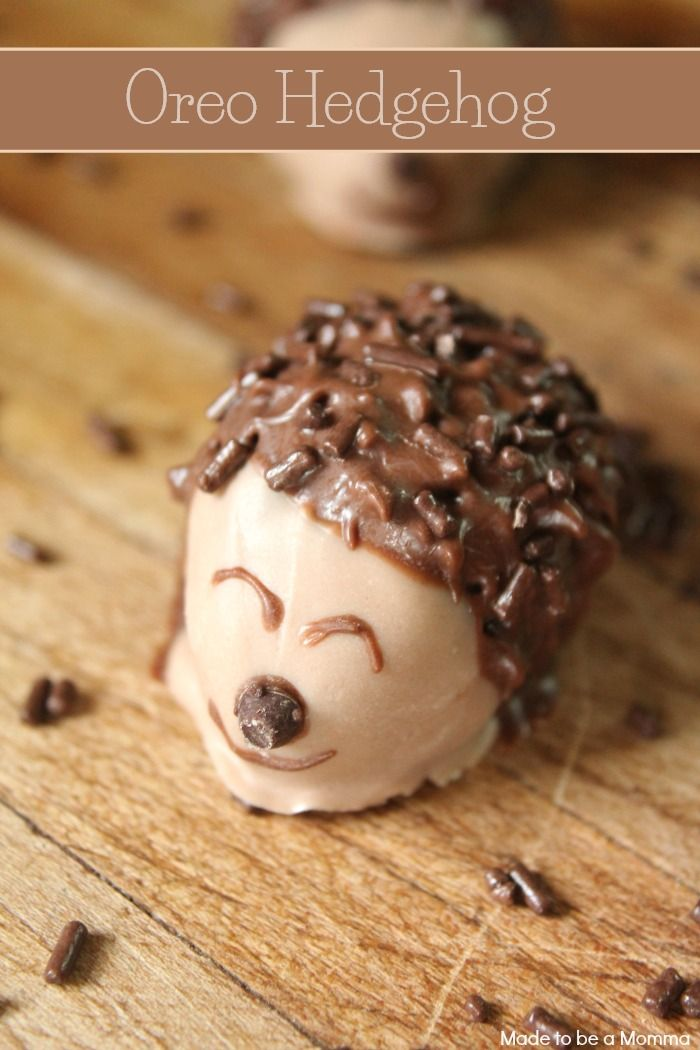 Oreo Hedgehog Candy Recipes Dessert Recipes Desserts