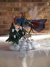 Christmas Stocking Holder, Metal & Resin Angel Design by Roman, Inc.