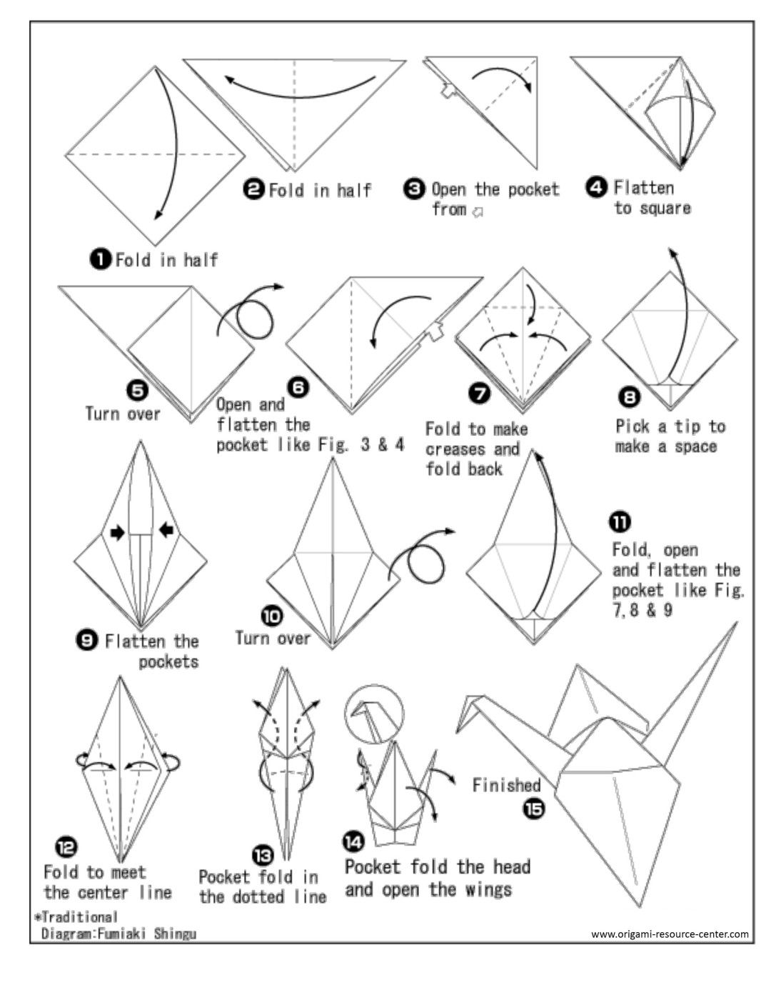 A Paper Crane Make A Paper Crane To Put In With A Letter
