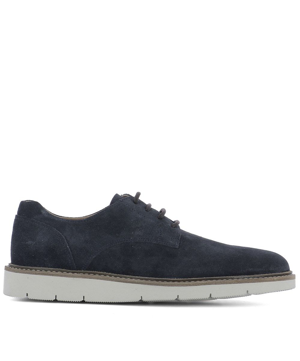 HOGAN Hogan Men'S Blue Suede Lace-Up Shoes'. #hogan #shoes #