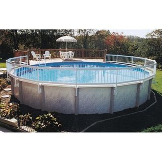 Gli Above Ground Pool Fence Kit 8 Section White Abs Above