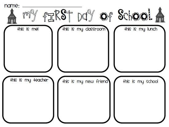 first day of school preschool printable - First Day Of Preschool Coloring Pages