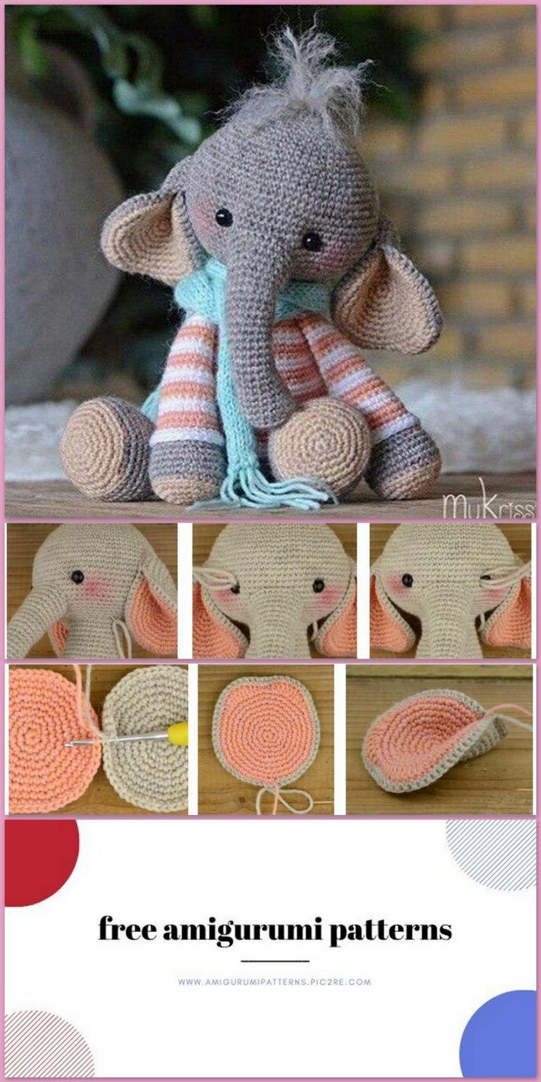 Pink crochet elephant pattern - Amigurumi Today | 1536x768