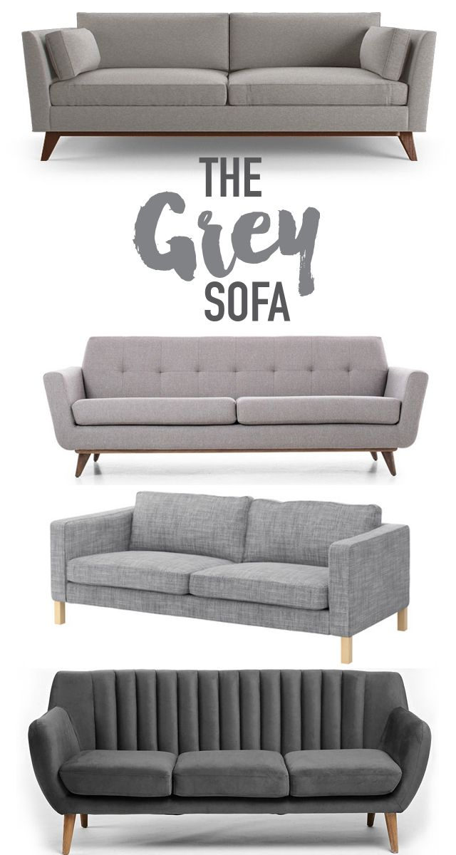 This Grey Sofa Will Balance Out The Colors In The Living Space, While Also  Providing A Comfortable Place To Sit.