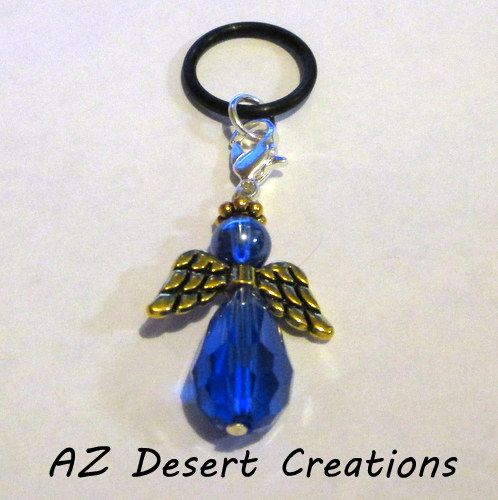 Blue Vaping Angel PV MOD Charm Personal Vaporizer Charm | DesertCreations - Accessories on ArtFire