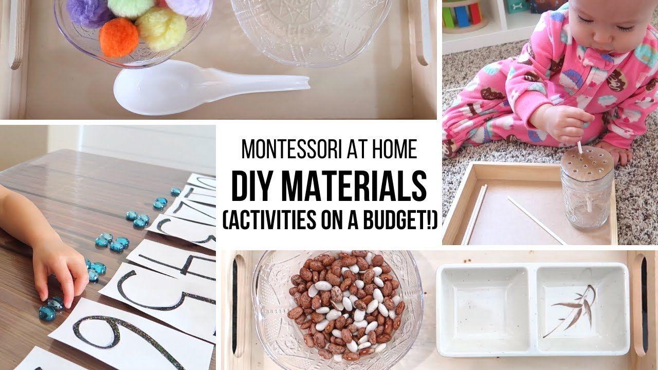 Montessori at home diy montessori materials on a budget