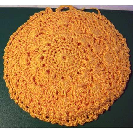 Filet Crochet Potholder