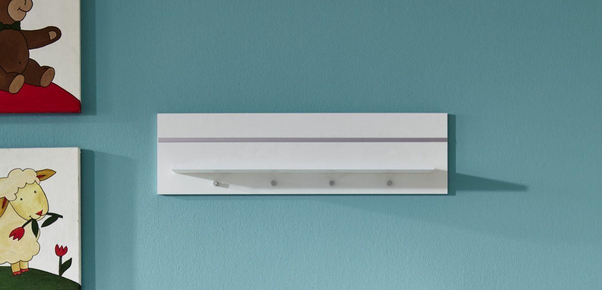 Wandboard Weiss/ Silber Trendteam Leonie Weiß Holz Modern Jetzt