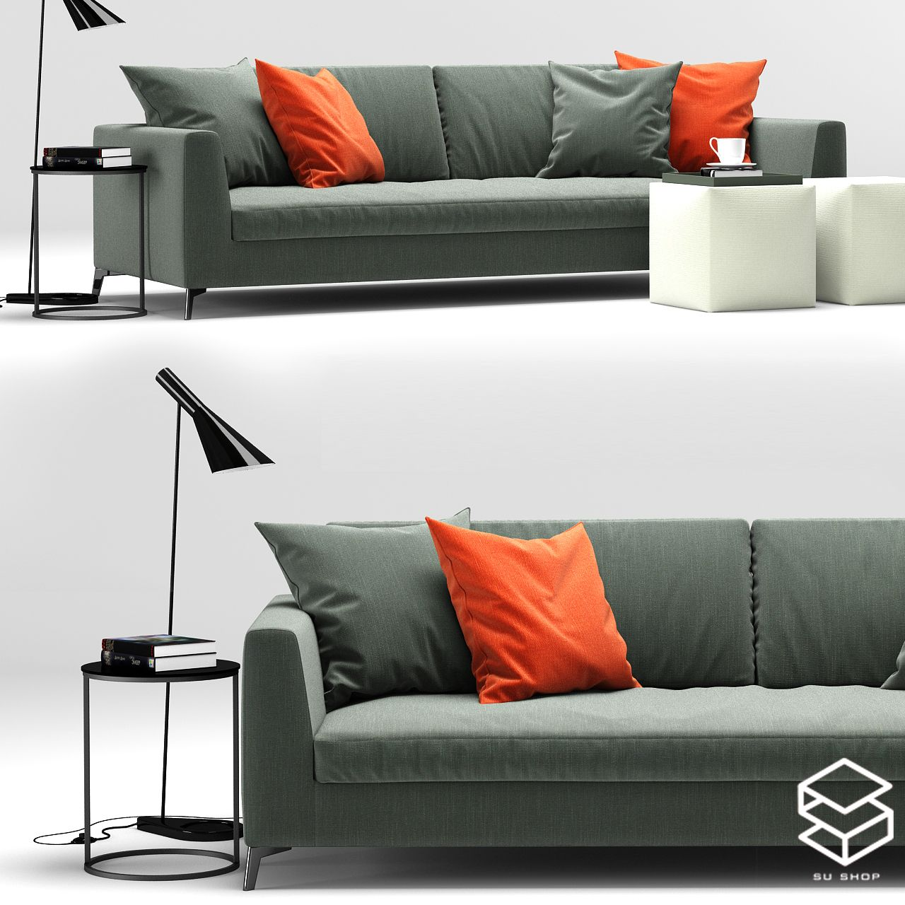 2548 Sofa Sketchup Model Free Download