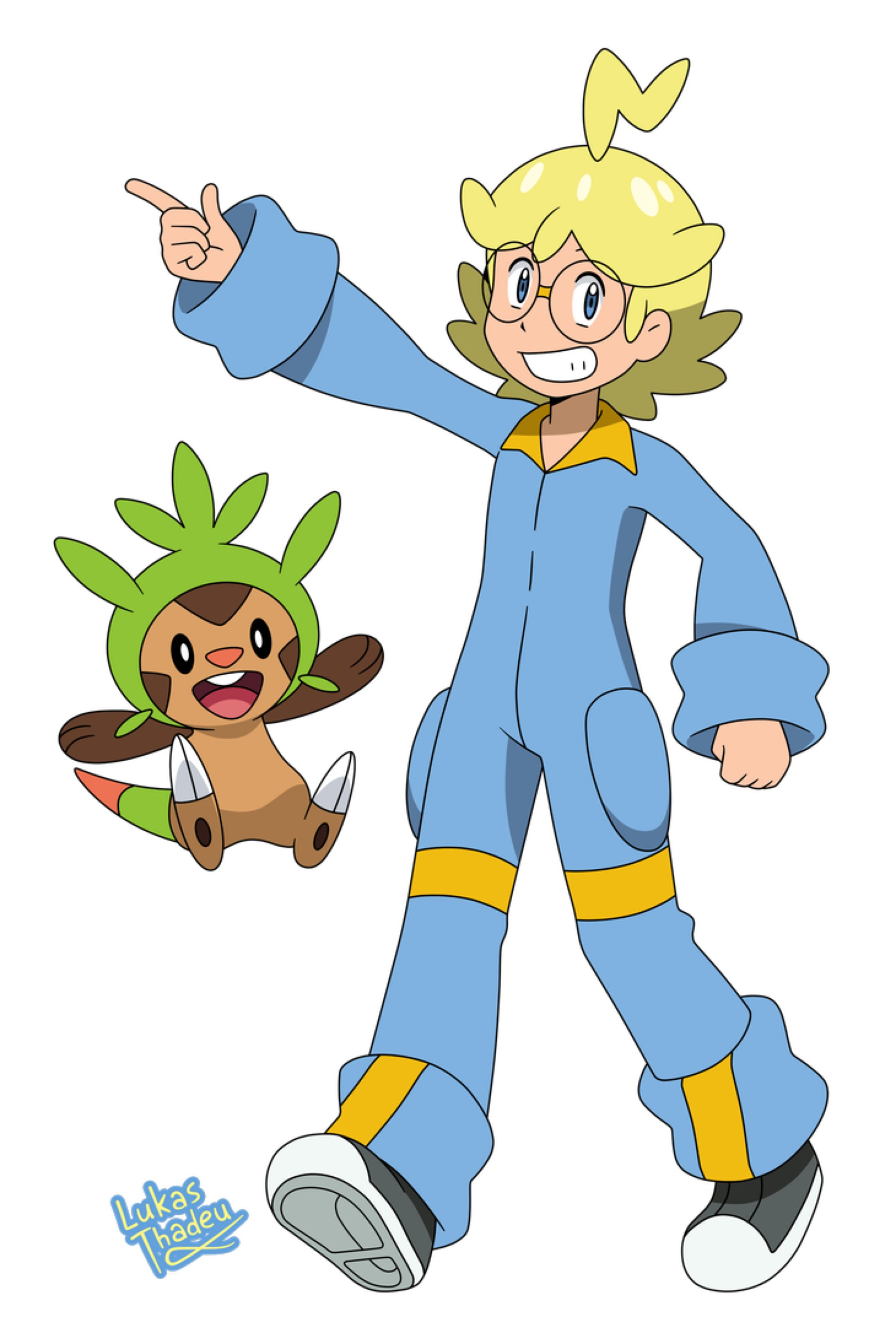 Pokemon anime Clemont (Sun and Moon style) by