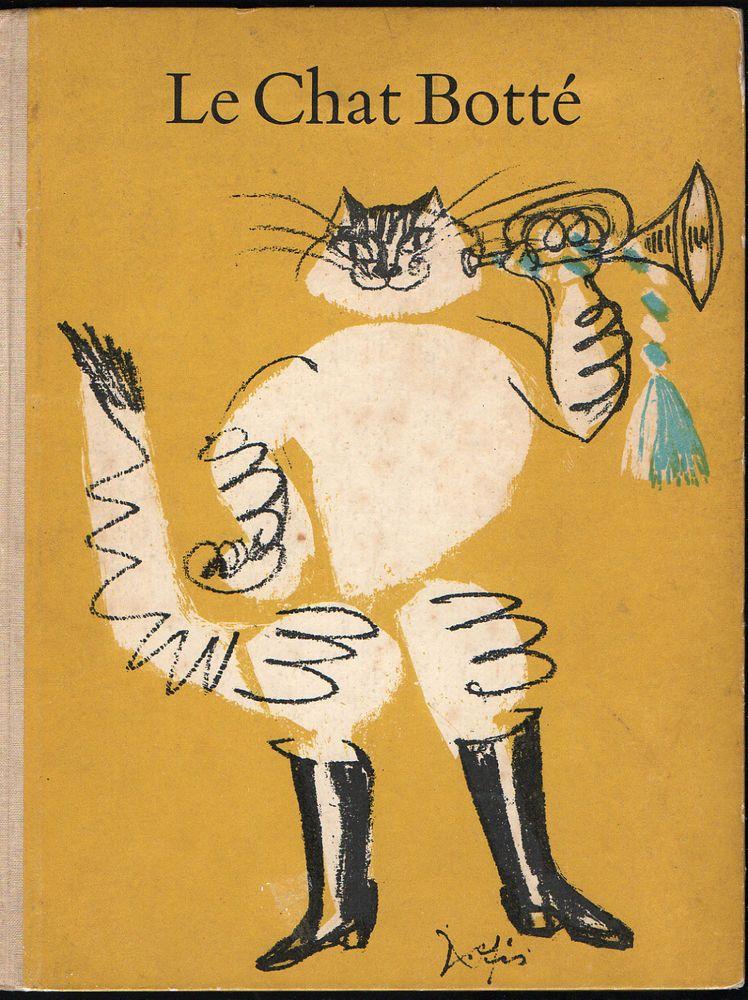 Charles perrault hans fischer le chat bott delpire 1958 e o contes et comptines chat - Dessin chat botte ...