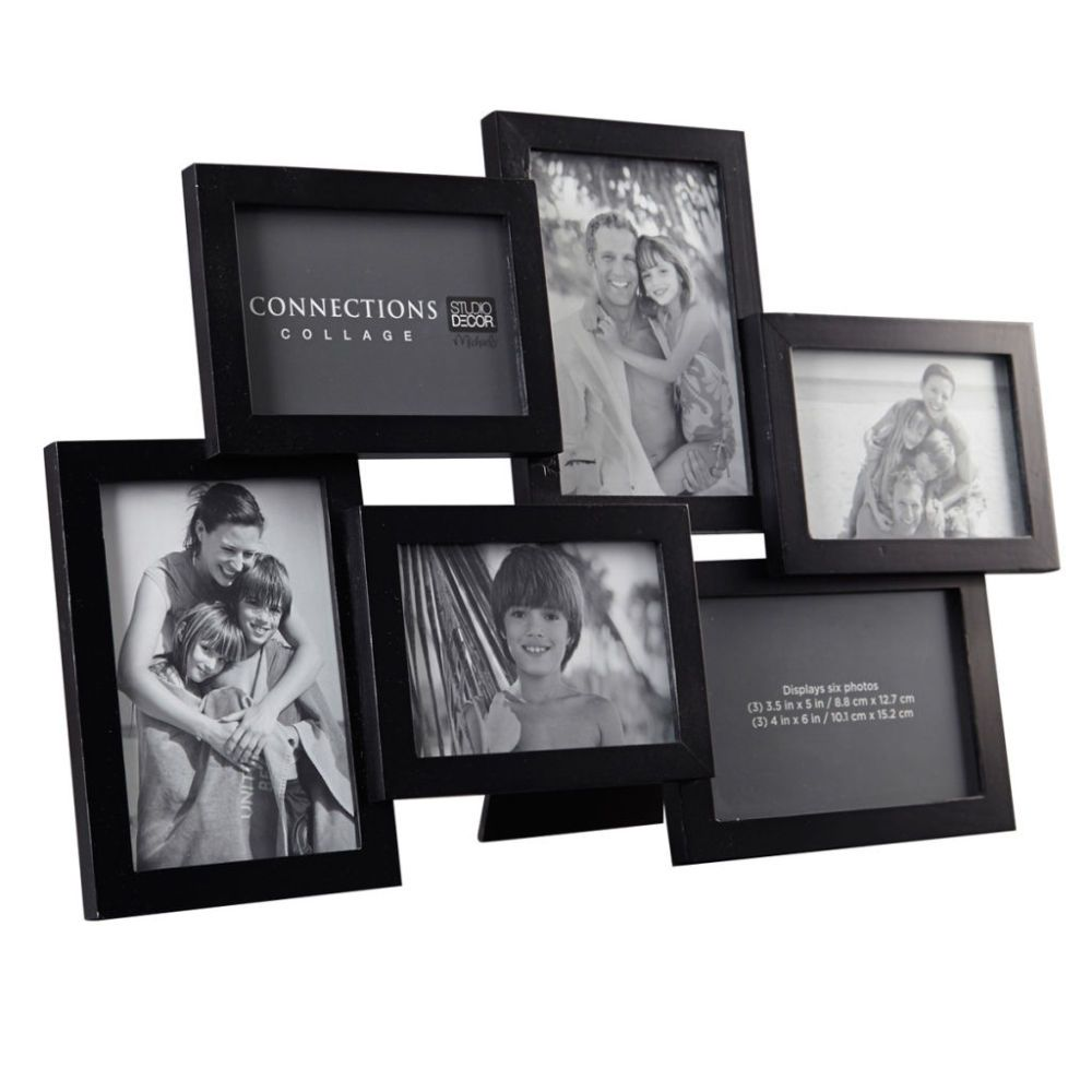 6 Opening Black Collage Frame Expressions By Studio Decor Collage Frames Collage Picture Frames Framed Photo Collage