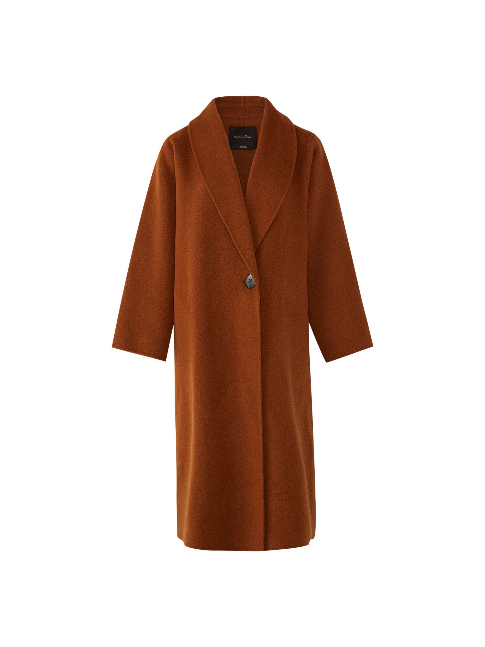 9305734c68469e Plain coat. Features a straight fit, lapel collar, single-button fastening,  two side pockets, long sleeves and lining. The back length for size M is  113.6 ...