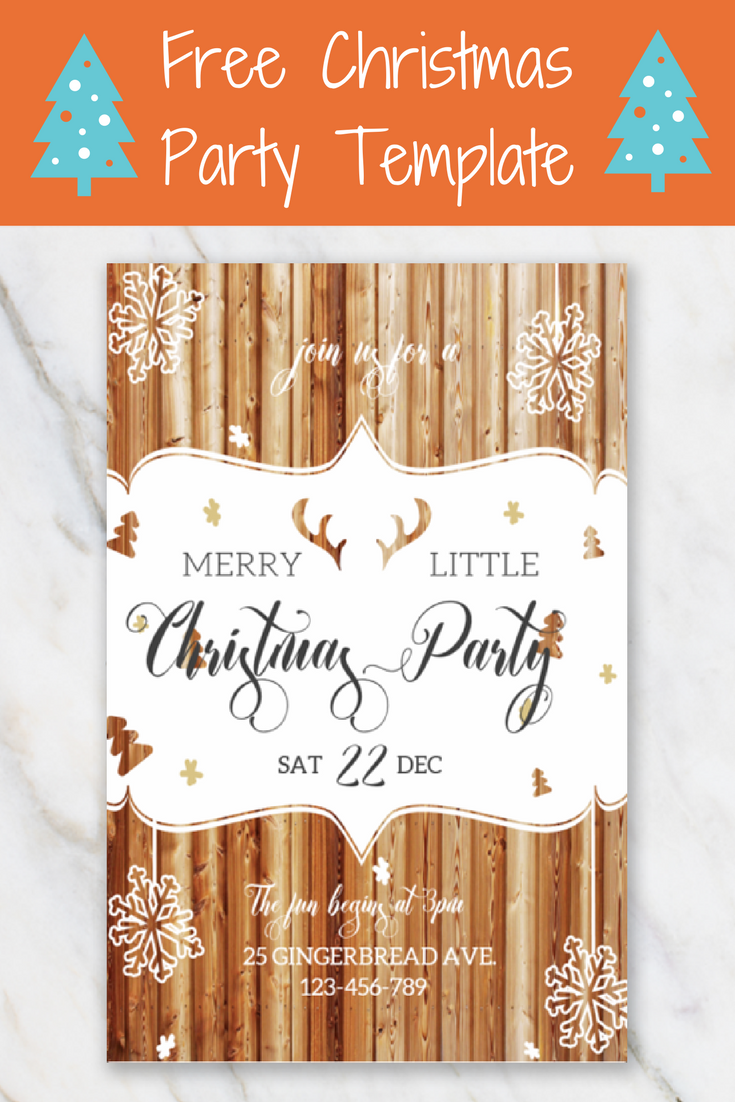 Merry little Christmas invitation template Free