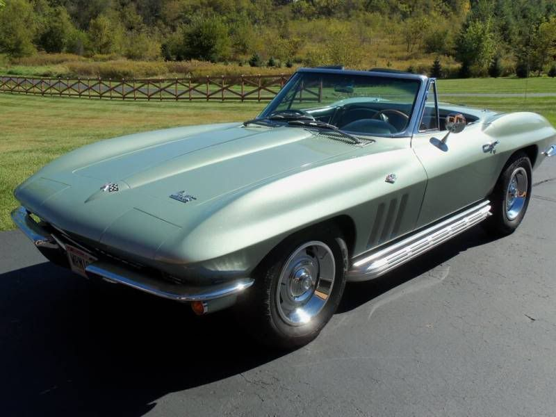 Fs 1966 Corvette Stingray Convertible In Original Mosport Green Corvette Forum Chevy Corvette Corvette Stingray Corvette