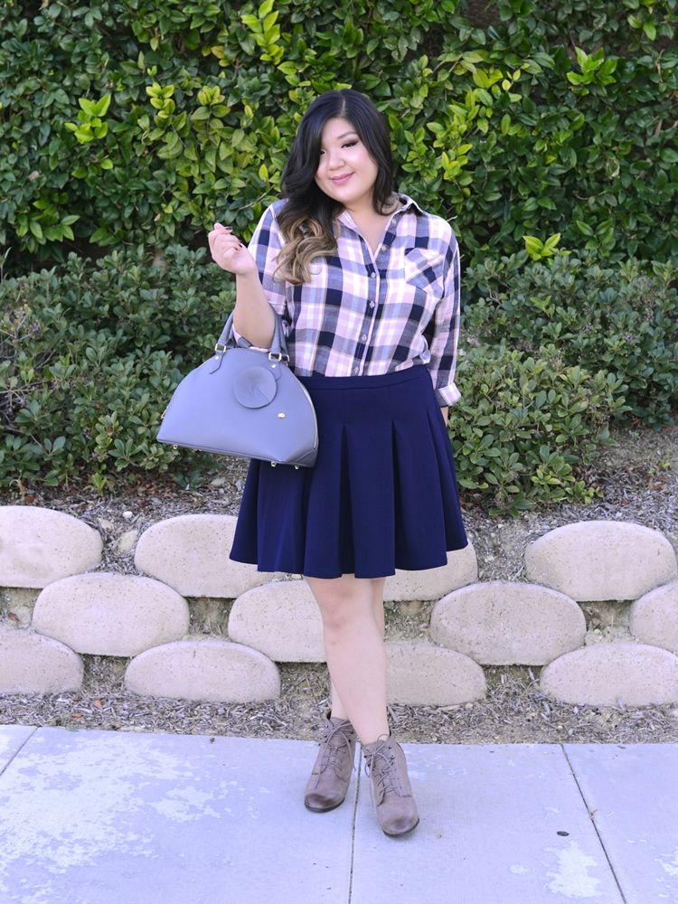 7e8f5c52ce6 Curvy Girl Chic Plus Size Fashion blog Fall Plaid Outfit Ideas with Target