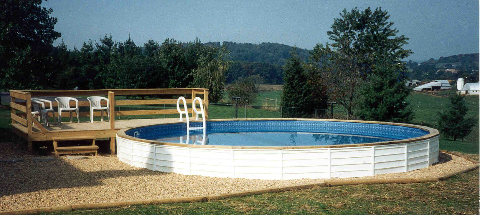 Ways To Camouflage An Above Ground Pool Above Ground Swimming Pools Target Above Ground Pool Swimming Pools Above Ground Swimming Pools Outdoor Improvements