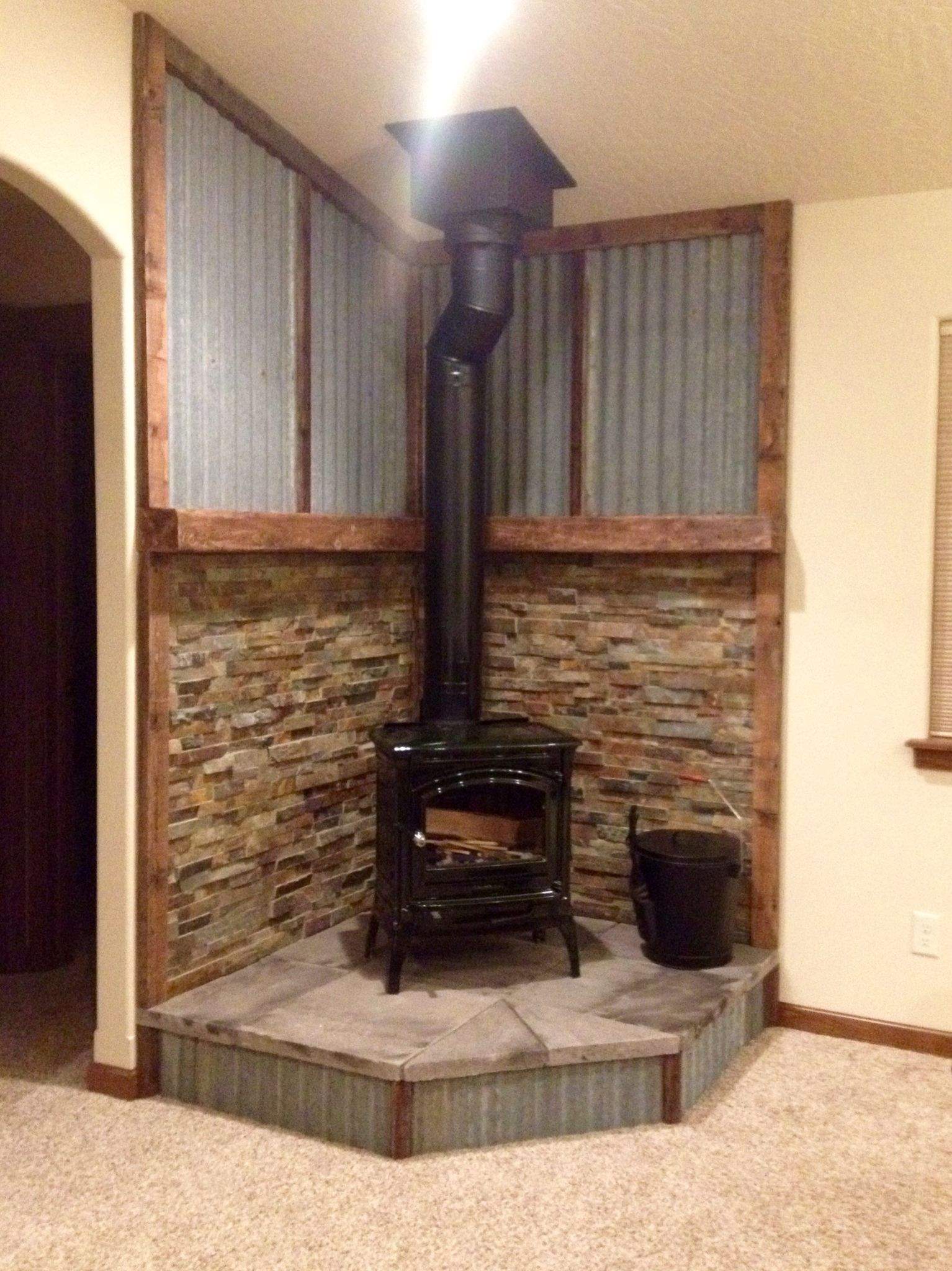 Fireplace Hearth Mantel With Images Wood Stove Surround Wood Stove Hearth Wood Stove Fireplace