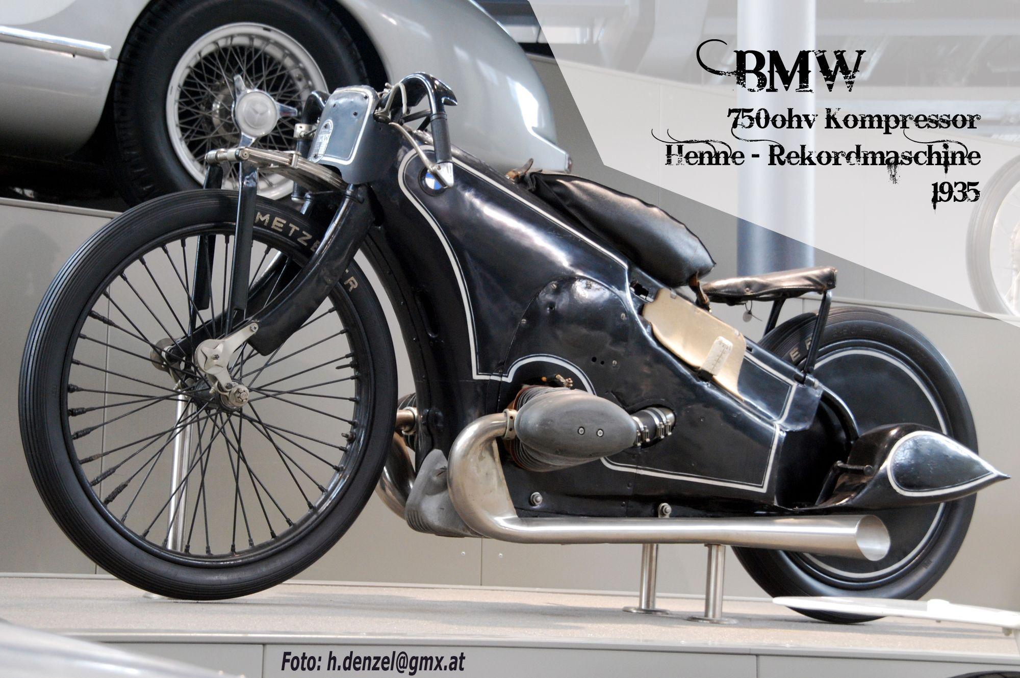 Bmw 750 Kompressor Rekordmaschine Ernst Henne 1935 Benzinradl N