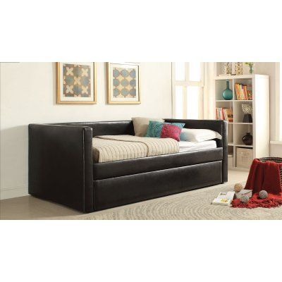 Acme Furniture Aelbourne Upholstered Daybed with Trundle - ACM1924 - Daybed Images