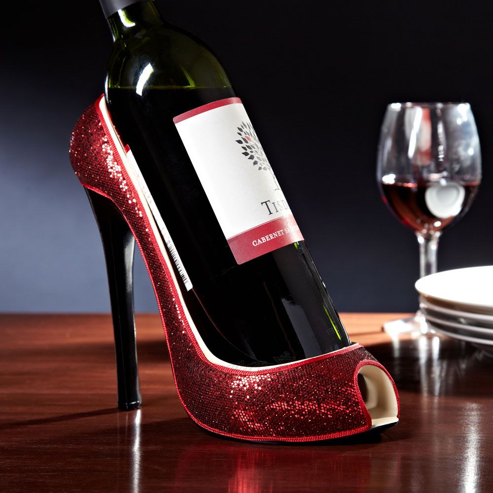 Razzle Dazzle Red Shoe Wine Holder Shoe Wine Holder Unique Wine Bottle Holder High Heel Wine Bottle Holder