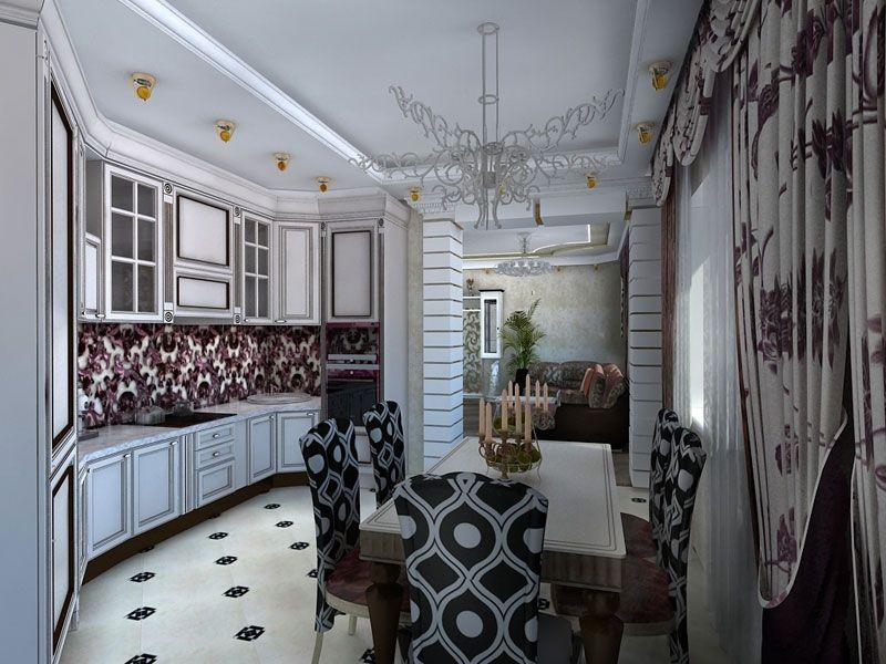 Salle à manger baroque dans un intérieur contemporain en 29 ...