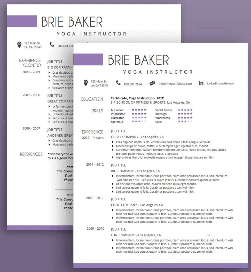 Creative Resume Template, CV Template + Cover Letter