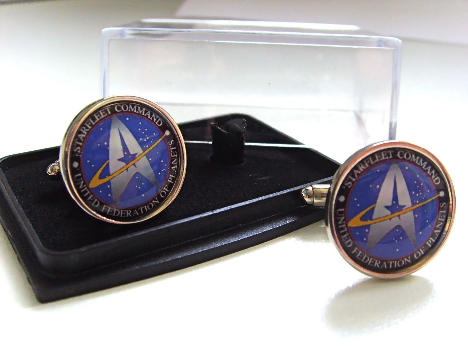 Details about star trek starfleet command mens cufflinks