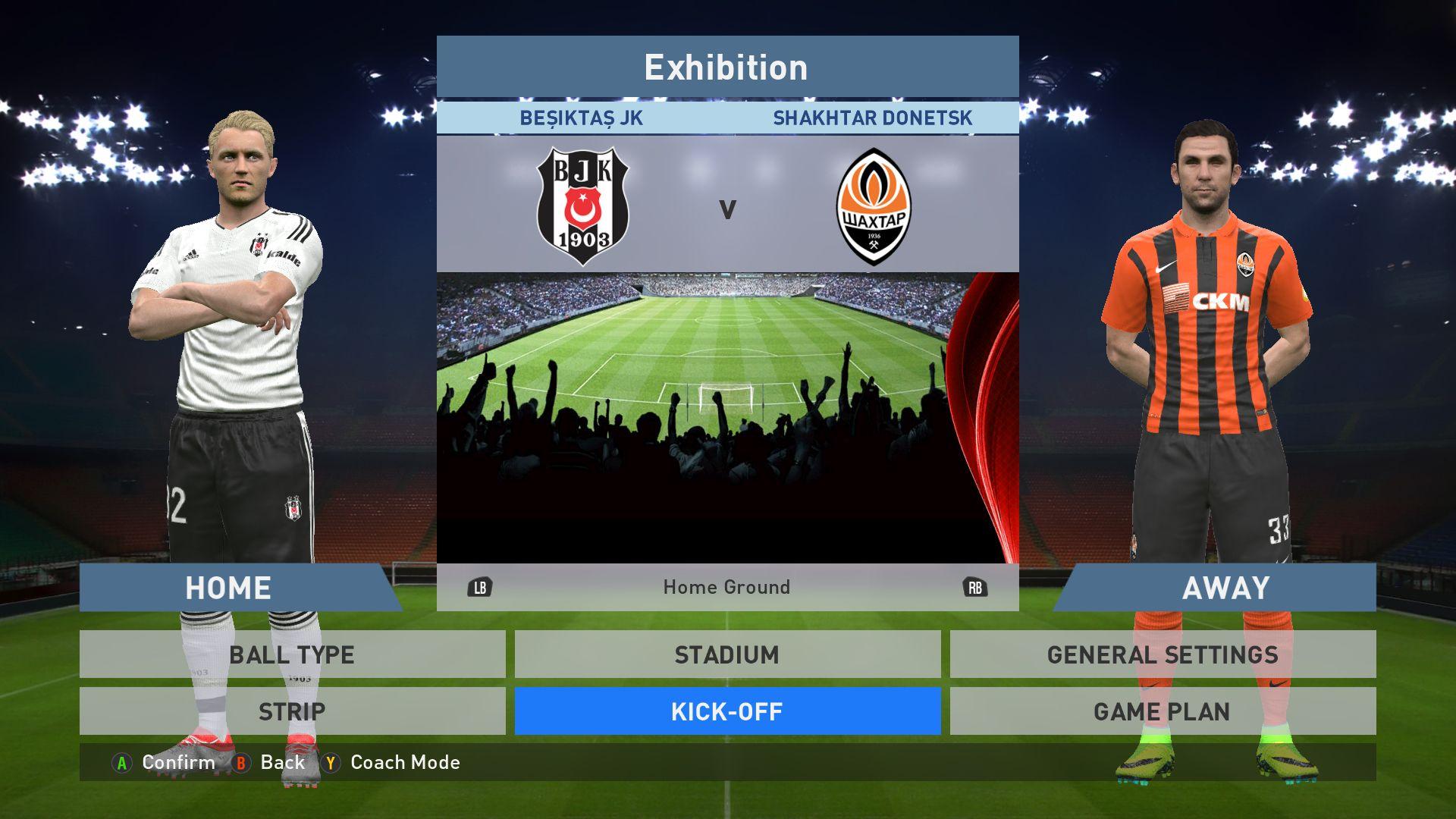 Besiktas Jk Vs Shakhtar Donetsk Bjk Vodafone Park Pes 2016 Pro Evolution Soccer 2016 Konami Pc Gameplay Pro Evolution Soccer Donetsk Soccer