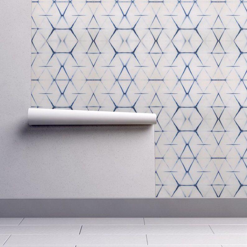 Shibori Wallpaper Shibori Triangle By Pricedesigns Shibori Etsy Wallpaper Roll Self Adhesive Wallpaper Adhesive Wallpaper
