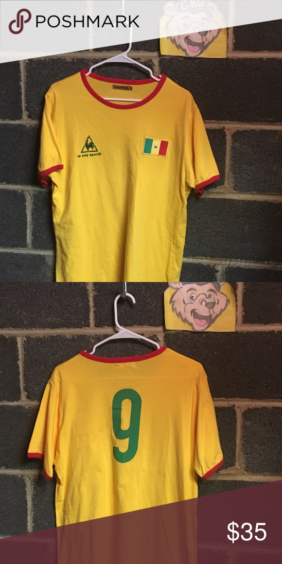 ee7370e64 Vintage Le Coq Sportif Cameroon Soccer Jersey Tee Vintage Men s 2X Le Coq  Sportif Cameroon Soccer Jersey Teeshirt. In excellent condition with no  major ...