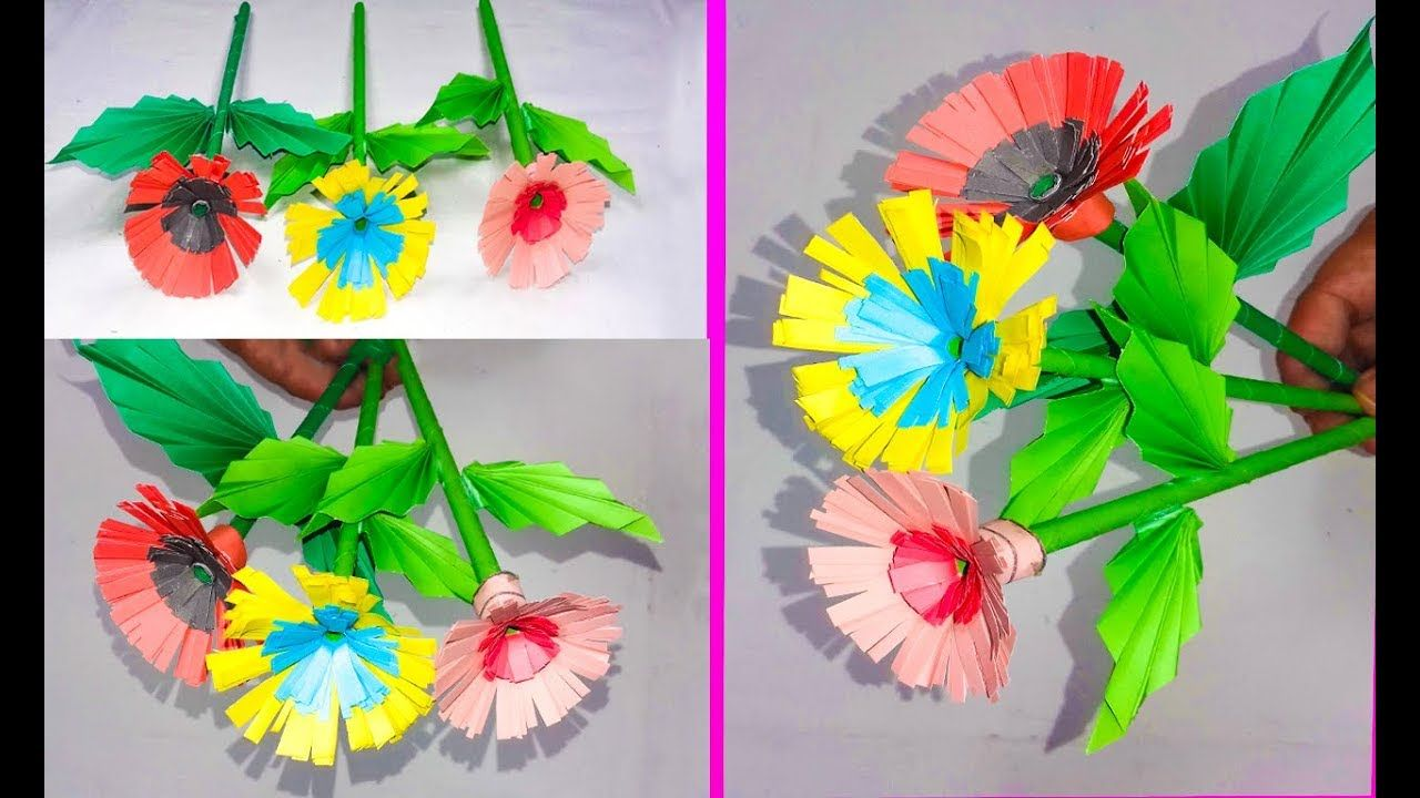 How to make a beautiful paper flowers step by stepvery easy how to make a beautiful paper flowers step by stepvery easy simple to izmirmasajfo
