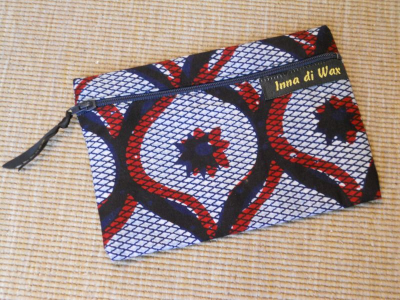 pochette de sac en wax tissu africain 08002 mini sac inna di wax fait maison african wax. Black Bedroom Furniture Sets. Home Design Ideas