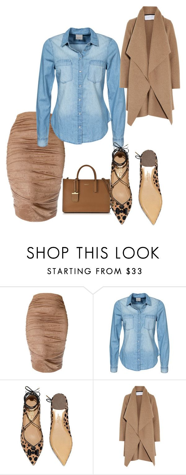 """""""Untitled #1977"""" by styledbycharlieb ❤ liked on Polyvore featuring Vero Moda, Salvatore Ferragamo, Harris Wharf London, DKNY, women's clothing, women, female, woman, misses and juniors"""