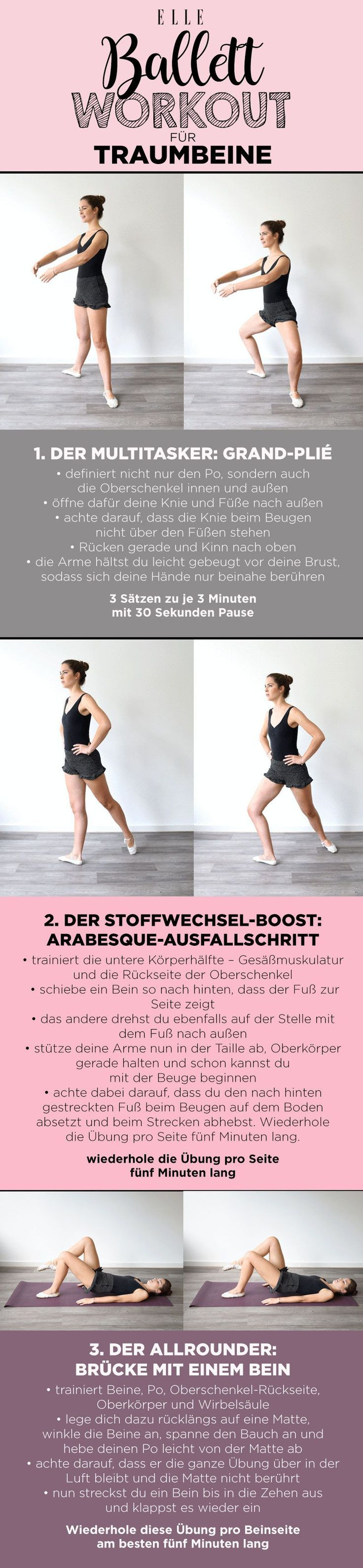 Ballett-Workout: drei Profi-Übungen für Traumbeine#workout #fitness #ballett #... - #FitnessMotivati...
