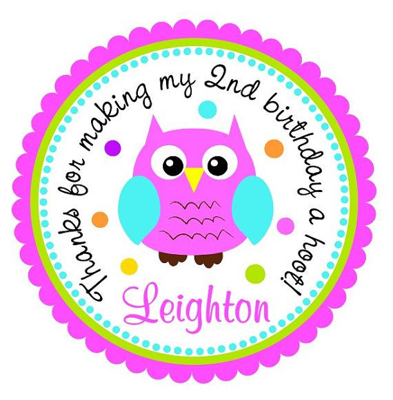 Owl personalized stickers little owl stickers by thepaperkingdom 6 00