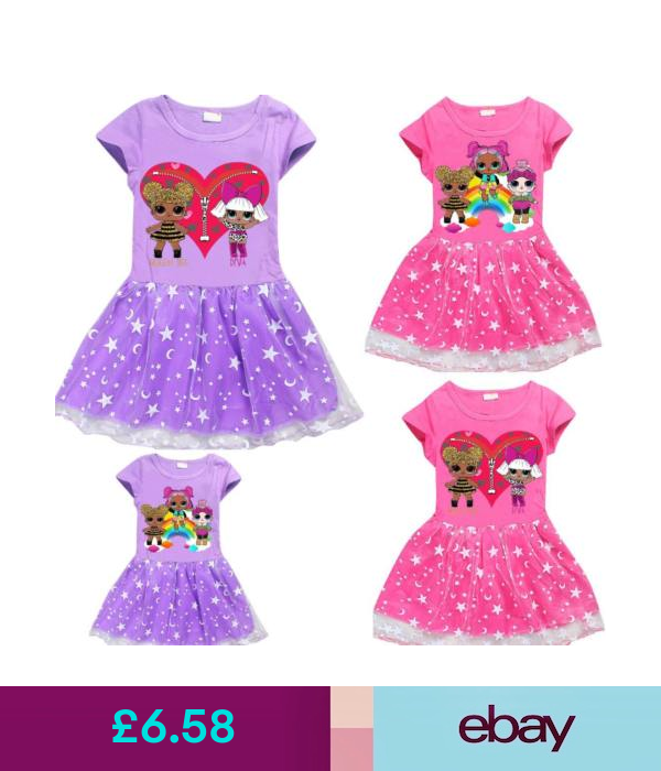 lol surprise dolls Game Girls Dresses T-Shirts skirts Tops Costume party gifts