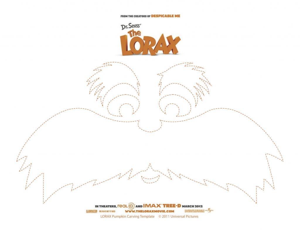The Lorax Printable Pumpkin Carving Template | Pinterest | Lorax ...