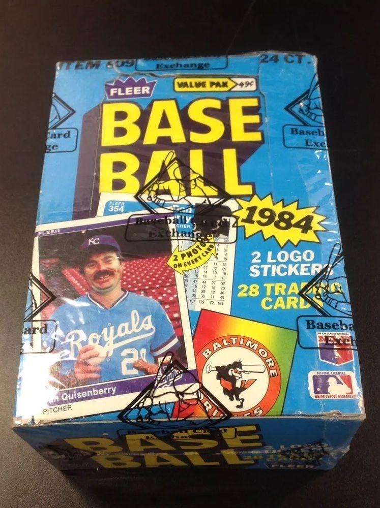 1984 fleer cello baseball unopened wax box bbce wrapped